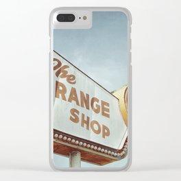 Orange Shop Clear iPhone Case