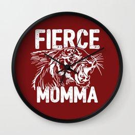 Fierce Momma / Red Wall Clock