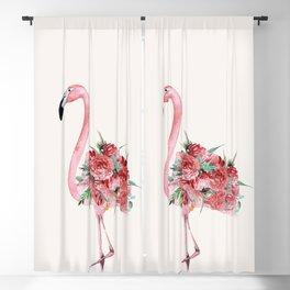 Flamingo Floral Blackout Curtain