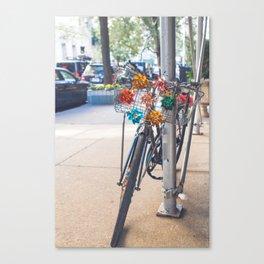 Pinwheels and Bicycles Canvas Print