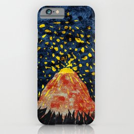 Erupting volcano iPhone Case