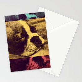 Sleeping pup Stationery Cards