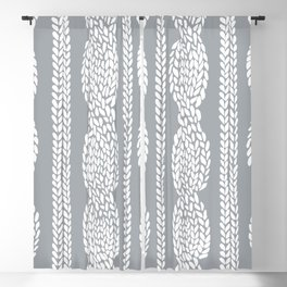 Cable Grey Blackout Curtain