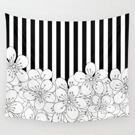 Cherry Blossom Stripes - In Memory of Mackenzie Wall Tapestry