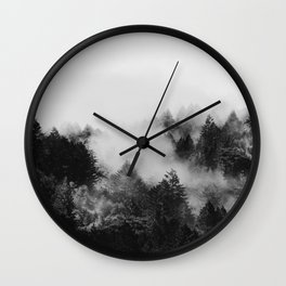 End in fire black & white (requested) Wall Clock