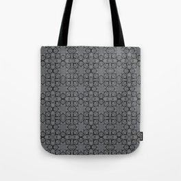 Sharkskin Geometric Tote Bag