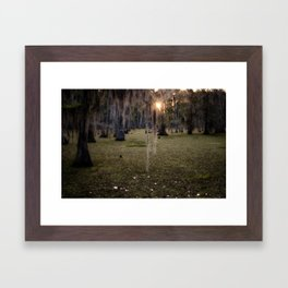 Sun Rise in the Swamps of Home Framed Art Print