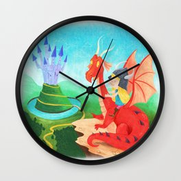The Girl and The Dragon Wall Clock