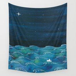 Storm, Ocean waves Wall Tapestry