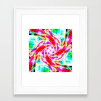 volleyball Framed Art Prints featuring Abstract Volleyball by Krazee Kustom