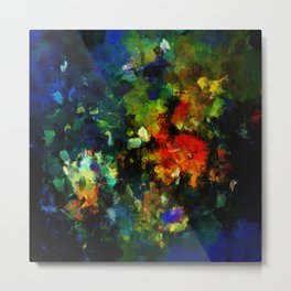 Dark Abstract Painting Metal Print