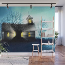 Abandoned Church within the Scituate Reservoir - Scituate, Rhode Island Landscape by Jeanpaul Ferro Wall Mural