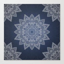 Blue mandala tibetan pattern Canvas Print