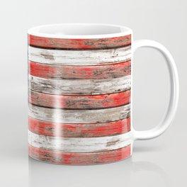 USA Vintage Wood Coffee Mug
