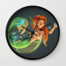 Mermaid Bubble Wall Clock