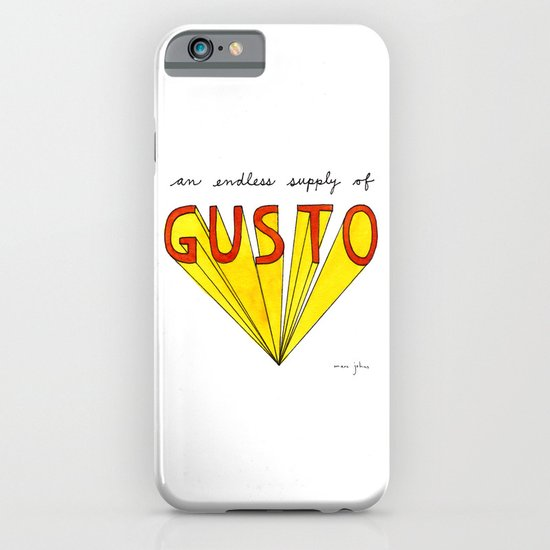 an endless supply of gusto iPhone & iPod Case