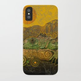 Just Chilling and Dreaming...(Lizard) iPhone Case