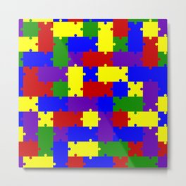 Colorful Puzzle Metal Print