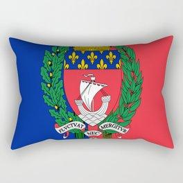 Flag of Paris 2 -Fluctuat nec mergitur Rectangular Pillow
