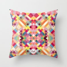 out square Throw Pillow
