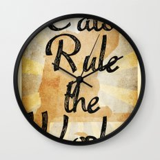 Cats Rule the World Wall Clock