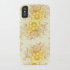 Larger Faded Flowers Tiled Slim Case iPhone X