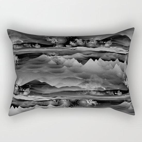 Residual Worlds (b&w) Rectangular Pillow