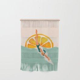 Girl Dive Wall Hanging