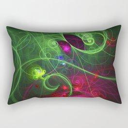 Curly Neon Galaxy Rectangular Pillow