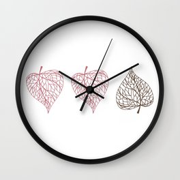 Linden leaves 2.0 Wall Clock