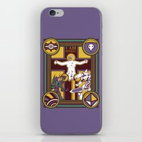 evangelion iPhone & iPod Skins featuring Illuminated Evangelion by C. A. Neal