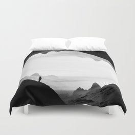 black wasteland isolation Duvet Cover