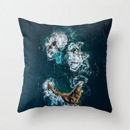Sea Smile - Ocean Photography Throw Pillow