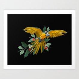 Macaw´s flight Art Print