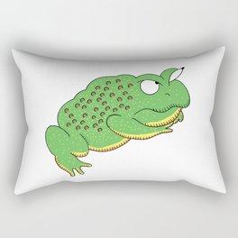 Grumpy ol' Bullfrog Rectangular Pillow