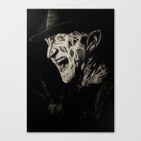 freddy krueger Canvas Prints featuring Freddy Krueger by Gabriel Fox