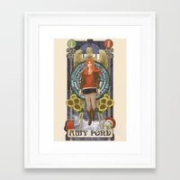amy pond Framed Art Prints featuring Amy Pond by hairwire