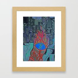 Occupied Framed Art Print