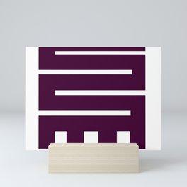 Adinkra Gear Logo Purple Mini Art Print