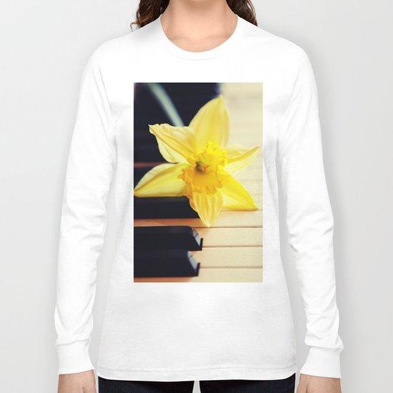 piano flower Long Sleeve T-shirt