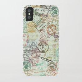 Passport Stamps iPhone Case