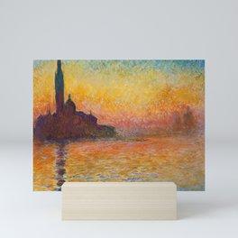 Claude Monet – Saint georges majeur au crépuscule San Giorgio Maggiore by Twilight Mini Art Print