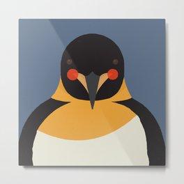 Emperor Penguin, Animal Portrait Metal Print