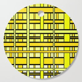 Yellow grid Cutting Board