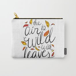 Wild With Leaves Carry-All Pouch
