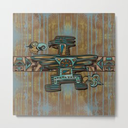 Wooden Spirit Metal Print