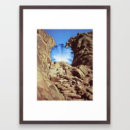 Monument to Regenerative Plants and Large Stones Framed Art Print