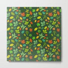 Leaves_green Metal Print