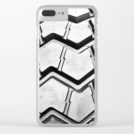 Black rubber tire background Clear iPhone Case