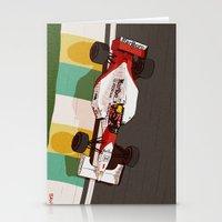 senna Stationery Cards featuring Senna by Bruno Gabrielli